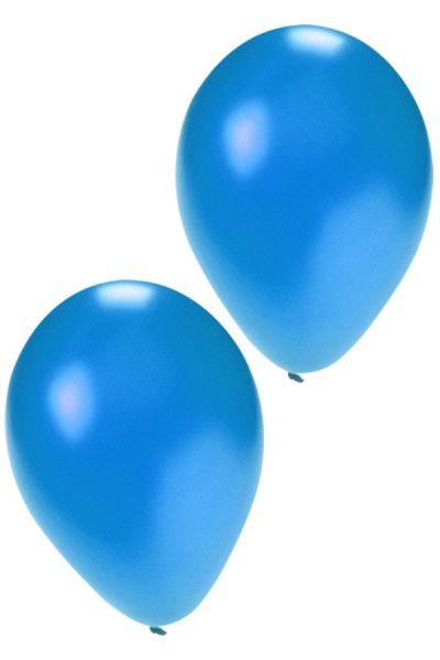 Qualität Luftballons metallic blau 36 cm