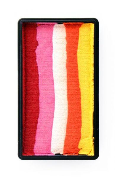 One Stroke Split Cake Schminkfarben rot pink weiß orange gelb Schminke PartyXplosion