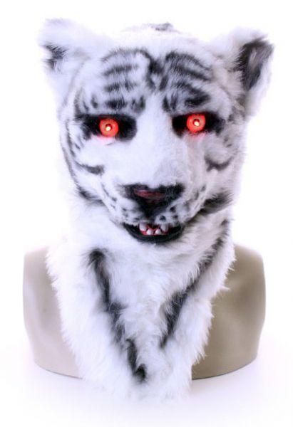 Vollmaske weißer Tiger