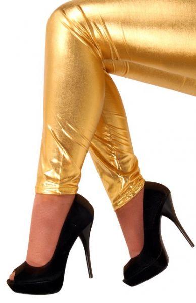 Legging metallisches Gold für Mädchen