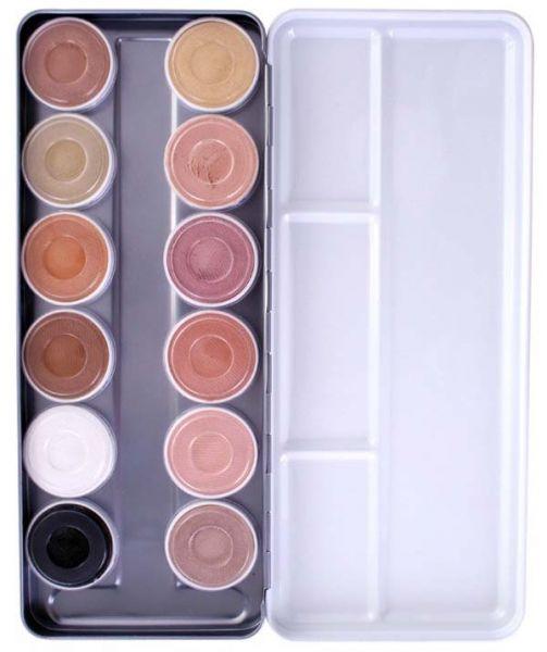 Superstar face paint palette 12 colors Aqua skintone