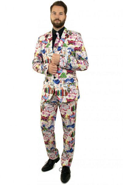 Lustiges 3-teiliges Graffiti kostüm