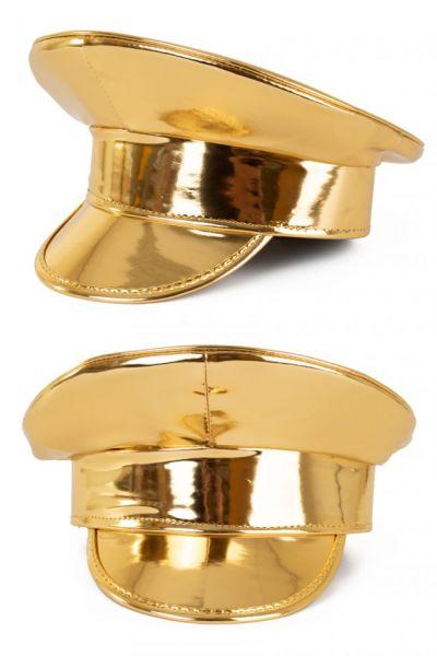 Glänzende Gold Lackkappe
