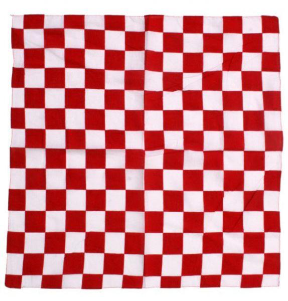 Bandana Taschentuch rot weiß kariert