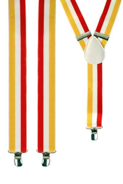 Hosenträger rot - weiß - gelb