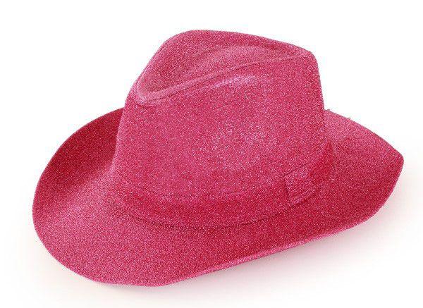 Cowboyhut Glitzer Pink