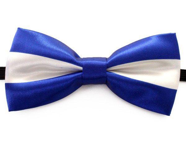 Fliege Luxus blau weiß gestreift