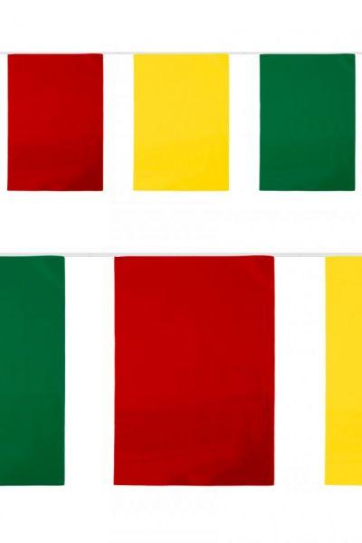 PVC-Flaggenlinie Rechteck rot-gelb-grün