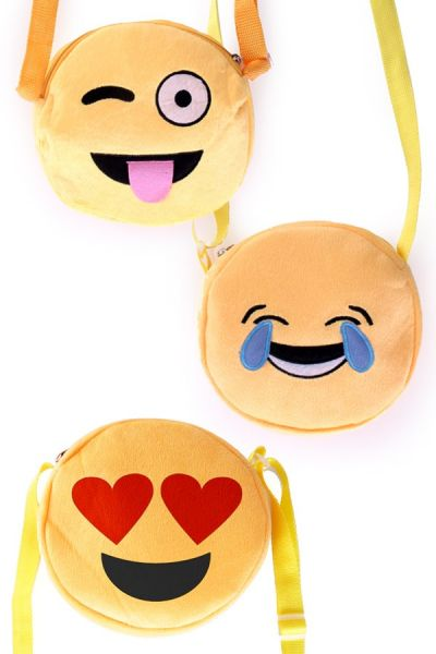 3 Emoticon Smiley Schultertaschen