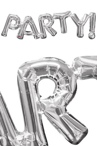Folienballon Party Silber