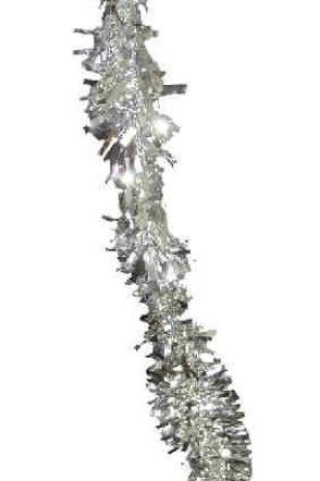 Kunststoff-Girlande Silber 4 Meter feuerfest