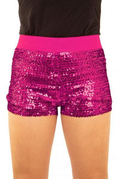 Hotpants mit Pailletten rosa