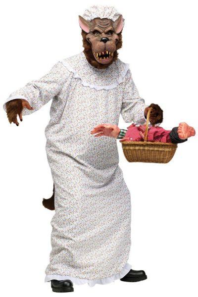 Lustiges Kostüm - Großer Böser Wolf Großmutter Rotkäppchens Oma