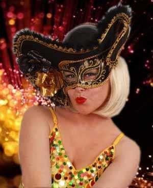 Venezianischer Hut mit Augenmaske
