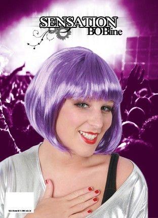 Damen Perücke Bobline violett