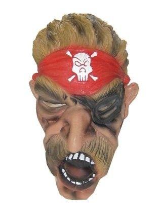 Pirate Maske mit großen Schnurrbart