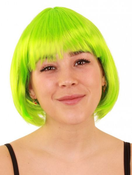 Bobline Damen Perücke neongrün Sensation
