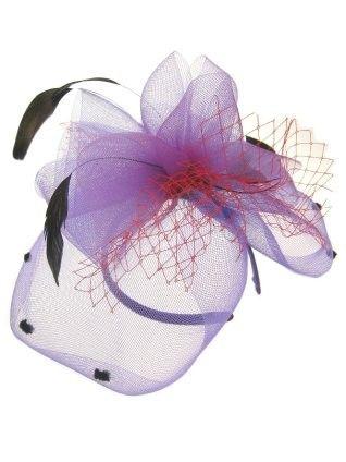 Stirnband Klammer Blume schwarz rot violett