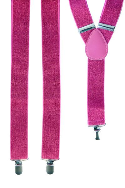 Hosenträger pink mit Glitzer