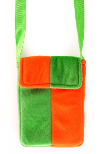 Orange grüne Tasche mit Reißverschluss