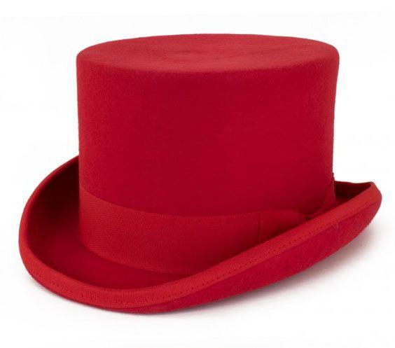 Roter Zylinder Hut