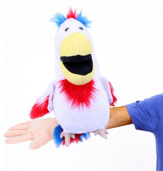 Bauchrednerpuppe Papagei