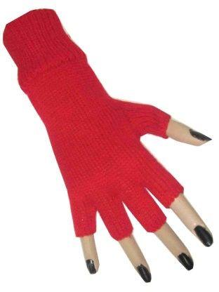 Roter fingerloser Handschuh