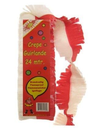 Crepe Garland rot weiß feuerfest