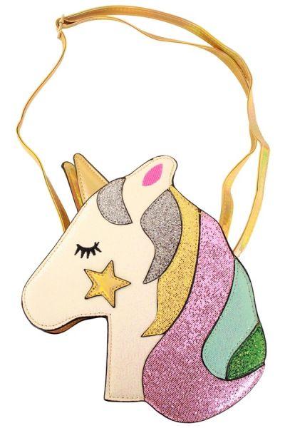Tasche Einhorn mit goldenem Stern
