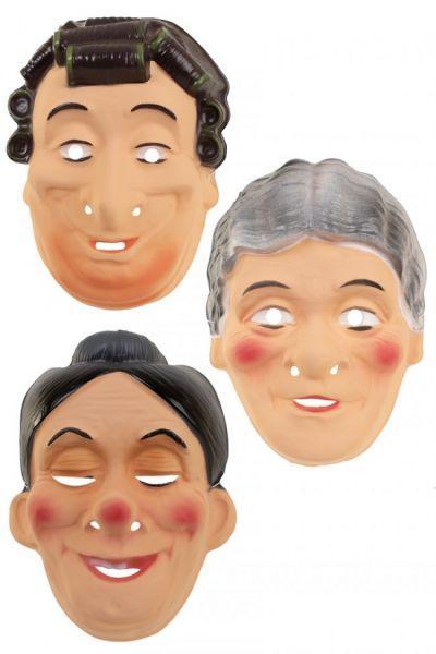 Verschiedene Oma-Masken