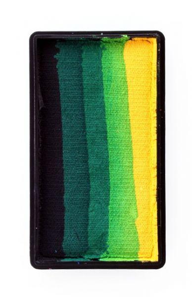 PartyXplosion Split Cake schwarz dunkelgrün grün hellgrün gelb