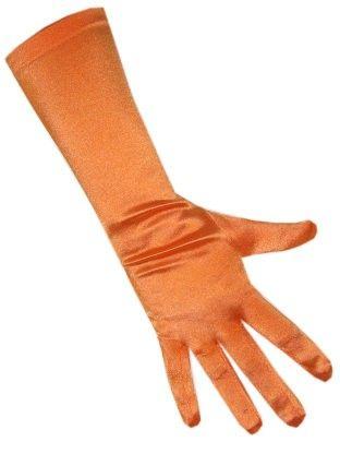 Satin Handschuhe orange Stretch