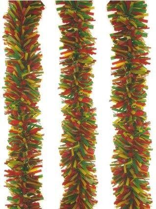Kunststoff-Girlande rot gelb grün 10 Meter feuerfest
