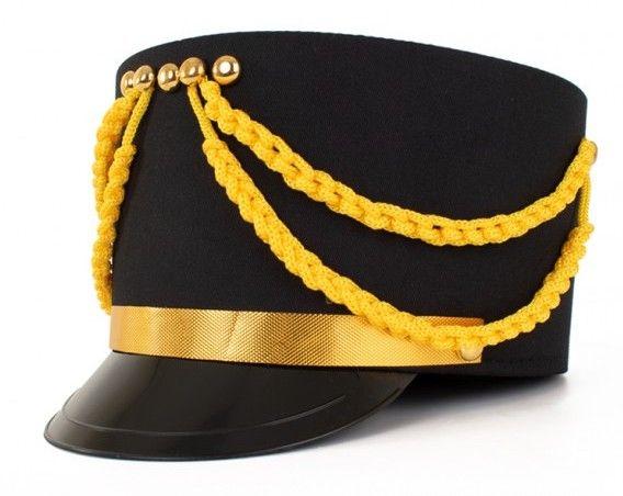 Kolbak Fanfare Mütze schwarz mit Gold