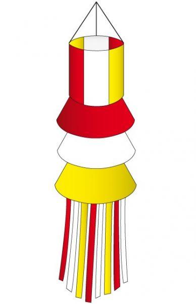 Windsock rot weiß gelben mit Strähne