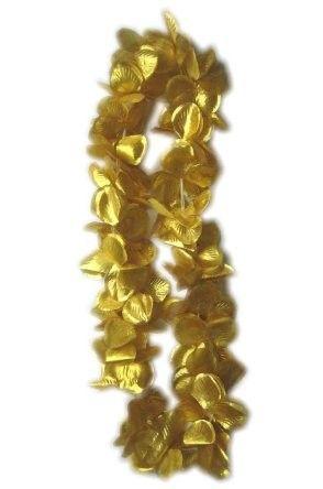 Hawaii Blüten gold Halskette Kranz 12 Stück