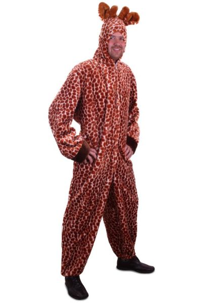 Tierkostüm Giraffe Plüsch mit Kapuze
