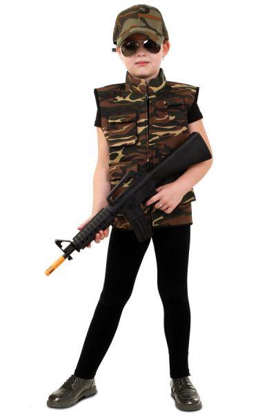 Coole Camouflage Weste Kinder