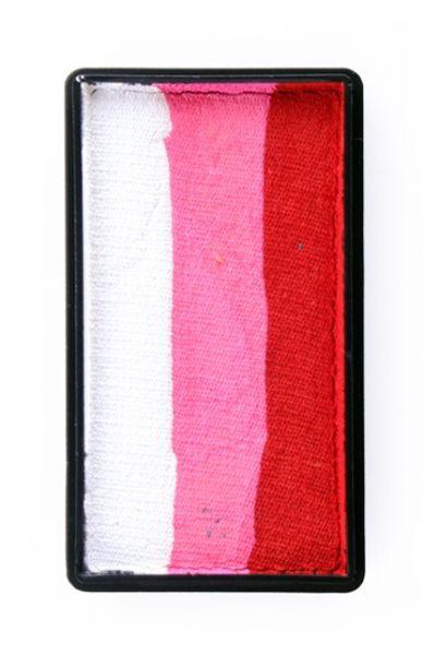 One Stroke Split Cake Schminkfarben rot pink weiß Schminke PartyXplosion