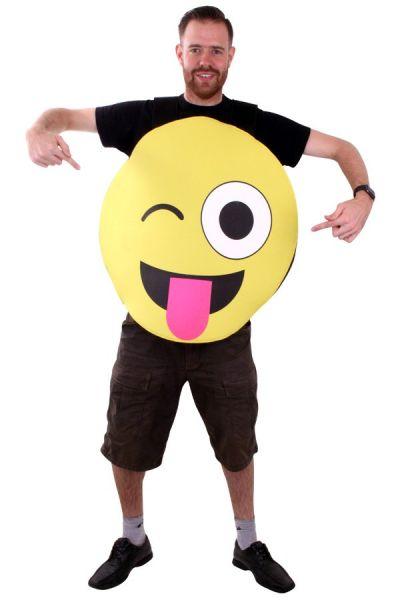 Emoticon Smiley mit Zunge Kostüm Imoji