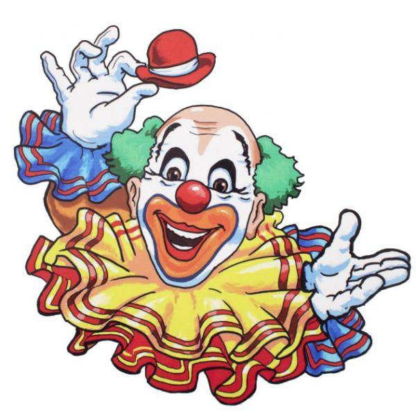 Fensteraufkleber fröhlicher Clown