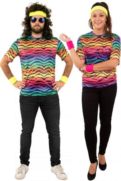 Hippie Neon T-Shirt mit Tiger Print