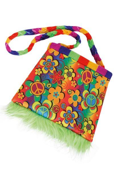 Bunter Hippie-Blumenbeutel