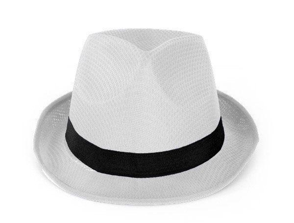 Gangster Hut Beule weiß