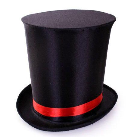 Extra hoch Hut schwarz Zauberer Zirkus
