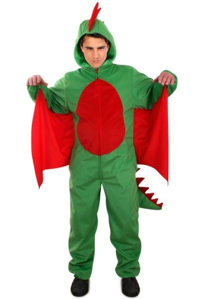 Grüner Drache Plüsch Kostüm Erwachsene