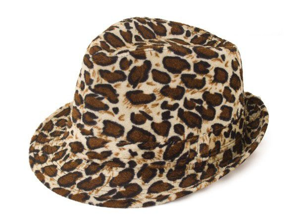 Gangster Zuhälter Leopard muster Hut