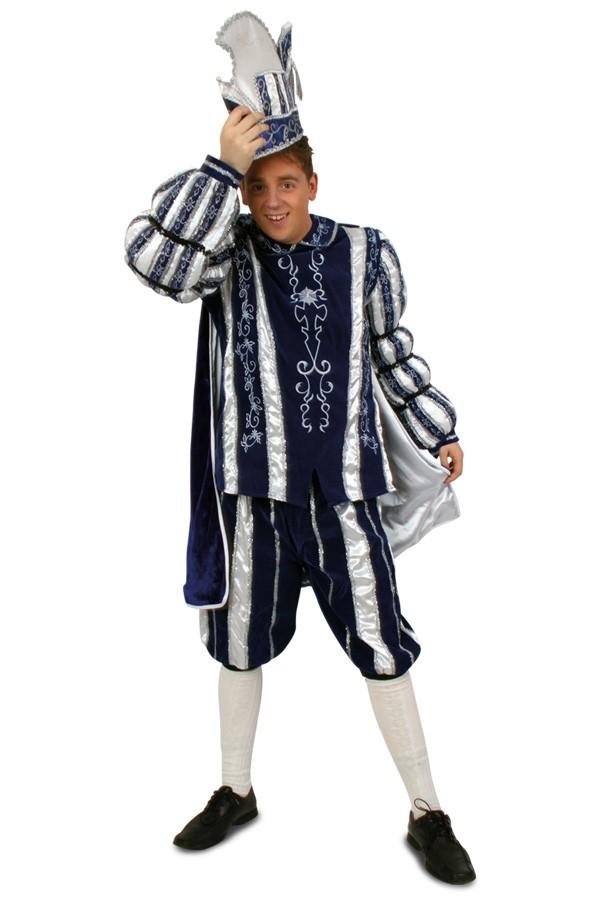 prinz karneval kost m anzug blau wei kost me f r fasching karneval und mottopartys finden. Black Bedroom Furniture Sets. Home Design Ideas