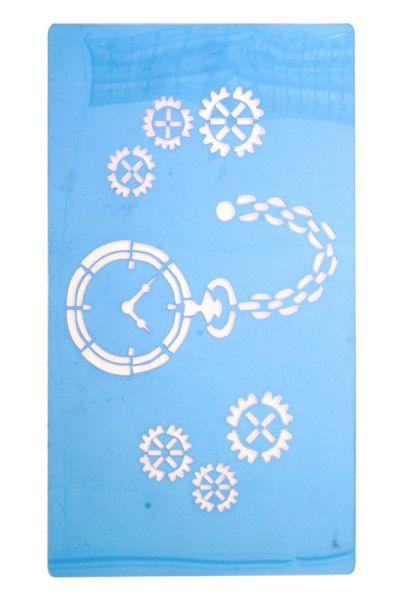 Schminke Vorlagen Steampunk Uhr