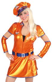 Sexy Party Kleid metallic orange Outfit
